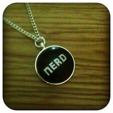 NERD Charm pendant necklace txt geek