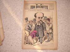 1885.Don Quichotte caricature.départ Camescasse