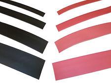 BLACK/RED Heat Shrink Heatshrink Tube 9.5mm - 25.4mm Assorted sizes 2:1 RATIO
