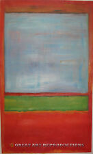 """Violet, Green, & Red"" Mark Rothko Reproduction in Oil, 40""x24"""