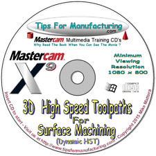 3D High Speed Toolpaths (Hst) For Mastercam X9 - Video Training
