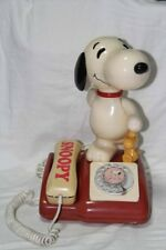 SNOOPY Telephone Vintage Rare PEANUT Snoopy and Woodstock Rotary Dial 14 inches