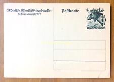 EBS Germany 1939 Postal Card Ostmesse in Königsberg - Elchkopf Michel P280