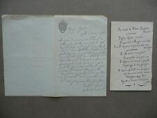 Autografo Don Adalberto Catena Lettera San Fedele Milano Verdi Manzoni 1894