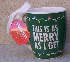 Jumbo Coffee Mug This is as Merry as I Get NEW 24 ounce cup with gift box