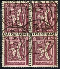 GERMANY 1922 STAMP Mi. # 164 wmk 1 INFLATION USED BLOCK OF FOUR