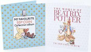 2020 Beatrix Potter Peter Rabbit Winnie The Pooh 50p Coin Albums Twin Pack AU FR