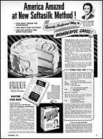 1943 Betty Crocker Cake Flour recipe gold layer cake vintage art print ad ads76