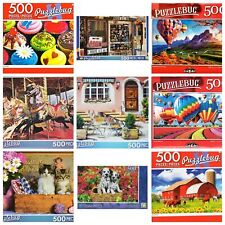 PUZZLES Lot Of FIVE (5*) 500 Pieces-  FREE SHIPPING