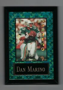 "Vintage 1994-1995 6.5"" x 4.5"" Card Plaque Dan Marino Miami Dolphins"