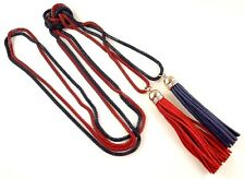 Dark Blue & Red Long Bohemian Double Layer Tassel Hollow Chain Necklace - #B323