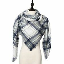 Winter Cashmere Scarf Women Scarf Plaid Blanket New Designer Female Triangle For
