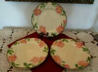 "Dinner Plates Three (3) Franciscan Desert Rose  10.5""   (USA)"