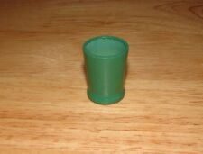 STROMBECKER Dollhouse Green Painted Trash Can Bedroom Bathroom 1930s - 1940s EUC