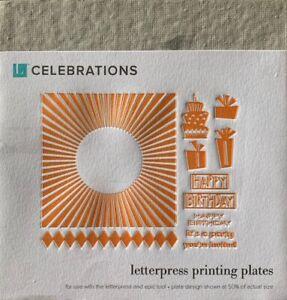 Everyday Letterpress Printing Plates ~ 5 Variants
