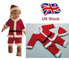 UK Seller Cute Warm Winter Boys Kids Santa Claus Fancy Dress Costume 0-3 years