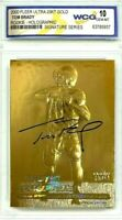 TOM BRADY 2000 FLEER ULTRA AUTOGRAPHED GEMMT10 23KT GOLD HOLOGRAPHIC ROOKIE CARD