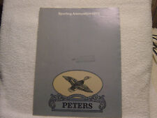 Peters Sporting Ammunition 1973 catalog brochure