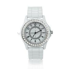 Moda Analógico Reloj Cuarzo de Pulsera Cristal Dial Regalo para Hombre Mujer