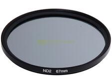 67mm. Filtro neutral density ND 2. ND2 filter.