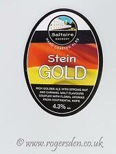 Saltaire Brewery Real Ale Pump Clip  Stein Gold