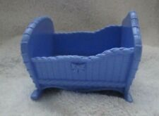 FISHER PRICE Loving Family BLUE BABY CRADLE from TWIN TIME DOLLHOUSE Nursery