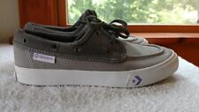 Womens Converse All Star Ox Boat Shoes Grey Purple Sz 8  Chuck Taylor