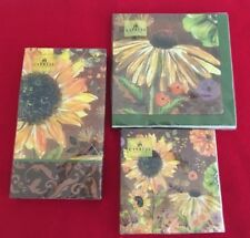 Sunflower Paper Napkins Luncheon Cocktail Guest Disposible Garden Party Napkins