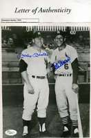 Mickey Mantle Stan Musial Jsa Coa Autograph 8x10 Photo  Hand Signed Authentic