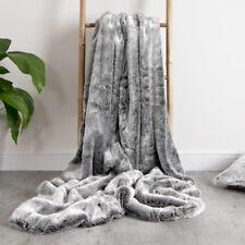 Bobbin & Co Luxury Faux Fur Throw - Extra Large 150cm X 200cm (arctic Wolf)