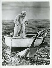 SPENCER TRACY FISHING SWORDFISH THE OLD MAN AND THE SEA 1958 ABC TV PHOTO