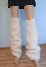 GAITERS Stockings Socks 100% goat down  fuzzy soft leg warmers Mohair Angora