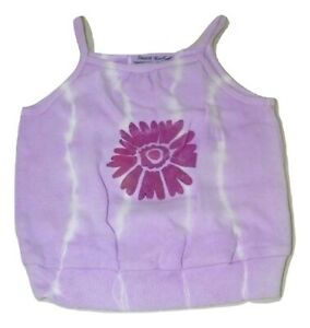 Hand Painted Dyed Tie Dye Girls Floral Spaghetti Strap Tee Size 4T 14702