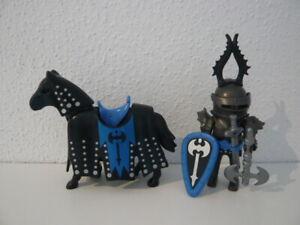 Playmobil 3315 Schwarzer Ritter Pferde Königsritter Turnierritter Figuren