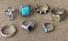Fashion Ring Lot Silver Tone Various Sizes