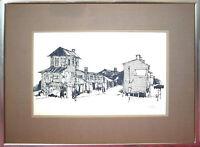 Roy Bailey (1933-2002) Signed Print of OLD NANTUCKET, Framed & Double Matted