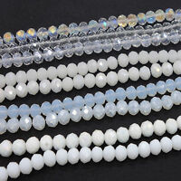 Wholesale AB clear Crystal Glass Rondelle Faceted Loose Spacer Beads 3mm~10mm