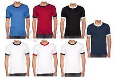 American Apparel - Men's Blend Ringer T-shirt, T, Crew Neck, 50/50 Tee, BB410