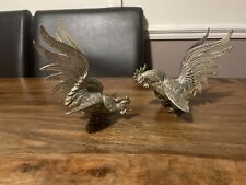 More details for vintage brass fighting cocks / roosters , ornaments,