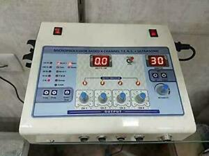 Brand New Physiotherapy 4 Channel TENS with Ultrasound Combination Therapy