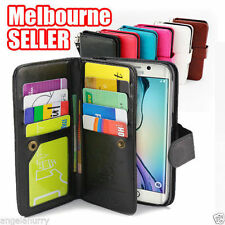 For Samsung Galaxy S6 S7 Edge S8 Plus Case, Card Magnetic Flip Leather WALLET