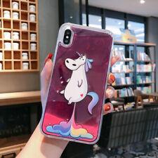 Luminous Neon Sand Phone Case For iPhone XS Max 6 8Plus SE 2020 Liquid Quicksand