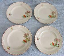 "Set 4 JG Meakin England Pottery Tree Flower Pattern 9"" Dinner Plates FREE S/H"