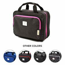 Travel-friendly Cosmetic / Toilery Organizer Case w/ Multiple Zippered Pockets