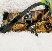 NINE WEST Leopard & Paisley Print mini bag