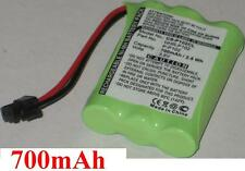 Battery 700mAh type HHR-P102 P-P102 BT-909 CS-90261 For Uniden DCT756