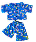 "Sunny Days Blue Pj's Teddy Bear Clothes Outfit Fits Most 14"" - 18"" Build-A-Bear,"