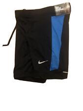 Nike Men's Running Dri Fit Essential Half  Tights Shorts Black Blue S 644252 022