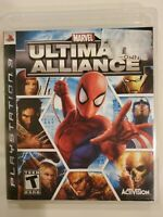 Marvel: Ultimate Alliance game (Sony PlayStation 3, 2006) NO Manual PS3 TESTED