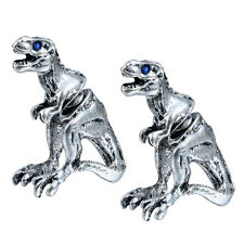 Punk Cool 3d Fake Gauge Tyrannosaurus T-rex Animal Earrings for Unisex Gift
